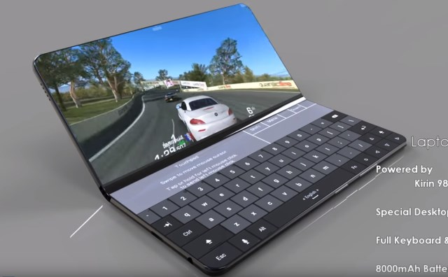 Concept Huawei Mate X opvouwbare smartphone